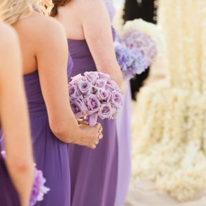 Lavender Rose Bridesmaids Bouquet