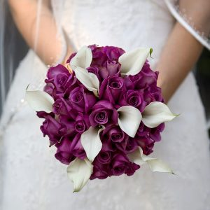 Purple Brides Bouquet