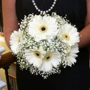 White Daisy Bridesmaids Bouquet